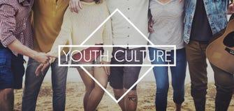 Concetto di anni dell'adolescenza dell'adolescente di stile di vita della cultura della gioventù giovane Fotografia Stock