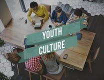 Concetto di anni dell'adolescenza dell'adolescente di stile di vita della cultura della gioventù giovane Immagini Stock