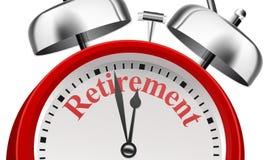 Concetto di annuncio di pianificazione di pensionamento illustrazione vettoriale