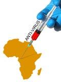 Concetto di antivirus Fotografia Stock