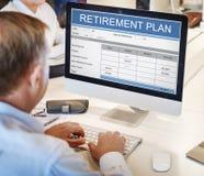 Concetto di anzianità di investimento di ricchezza del piano pensionistico Fotografia Stock Libera da Diritti