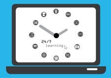 Concetto di apprendimento di computer Illustrazione Vettoriale