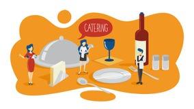 Concetto di approvvigionamento Idea di di servizio ristoro all'hotel royalty illustrazione gratis