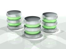 Concetto di archiviazione di dati: lucido verde Fotografie Stock Libere da Diritti