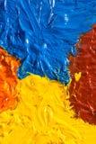 Concetto di arte con la pittura ad olio immagini stock