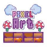 Concetto di arte del pixel royalty illustrazione gratis