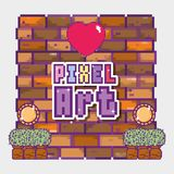 Concetto di arte del pixel illustrazione di stock
