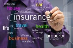 Concetto di assicurazione Fotografie Stock Libere da Diritti