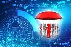 Concetto di assicurazione in caso di morte dei dirigenti nel fondo digitale 3d rendono illustrazione di stock