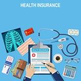 Concetto di assicurazione contro le malattie Immagine Stock Libera da Diritti