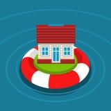 Concetto di assicurazione della casa Immagini Stock Libere da Diritti