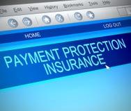 Concetto di assicurazione di protezione di pagamento Immagine Stock Libera da Diritti