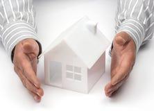 Concetto di assicurazione o dei beni immobili Immagine Stock Libera da Diritti