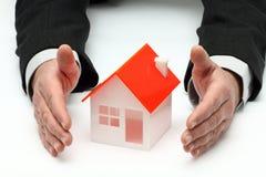Concetto di assicurazione o dei beni immobili Fotografia Stock Libera da Diritti