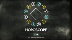 Concetto di astrologia di credenza di mistero di mitologia dell'oroscopo fotografia stock