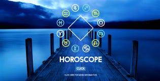 Concetto di astrologia di credenza di mistero di mitologia dell'oroscopo fotografie stock libere da diritti