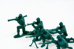 Concetto di attacco - soldati di plastica Fotografia Stock