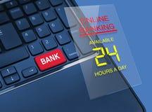 Concetto di attività bancarie online Fotografia Stock Libera da Diritti