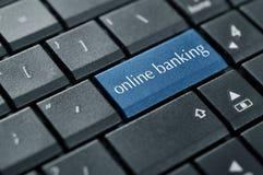 Concetto di attività bancarie online Fotografia Stock
