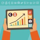 Concetto di attività bancarie online di vettore Fotografia Stock Libera da Diritti