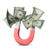 Concetto di attrazione dei soldi Fotografia Stock