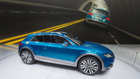 Concetto di Audi e-Tron Fotografia Stock