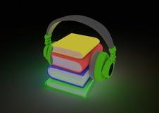 Concetto di Audiobook Fotografia Stock