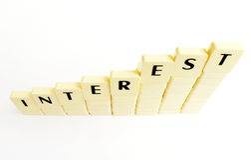 Concetto di aumento di interesse Immagini Stock