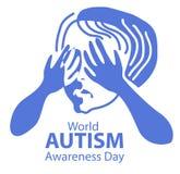 Concetto di autismo Fotografia Stock Libera da Diritti