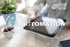 Concetto di automazione come innovazione, migliorando produttività nella tecnologia e nei processi aziendali Immagini Stock Libere da Diritti