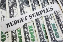 Concetto di avanzo di bilancio immagini stock libere da diritti