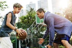Concetto di Basketball Bounce Sport dell'atleta della vettura Fotografia Stock