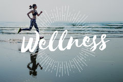 Concetto di benessere di benessere di allenamento di sport di esercizio Fotografia Stock