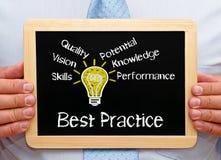 Concetto di best practice Immagini Stock Libere da Diritti
