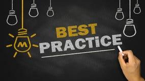 Concetto di best practice Fotografia Stock