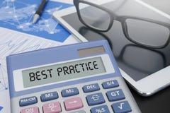 Concetto di best practice Immagine Stock