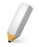 Concetto di bianco della matita di scrittura Immagini Stock