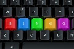 Concetto di bingo sulla tastiera di computer Fotografie Stock Libere da Diritti