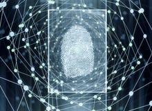 Concetto di biometria Fotografia Stock