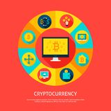 Concetto di Bitcoin Cryptocurrency Immagine Stock Libera da Diritti