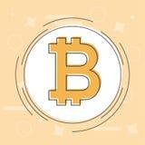 Concetto di Bitcoin Sospiro di logo di Cryptocurrency Fondi Digital Catena di blocco, finanza Fotografie Stock Libere da Diritti