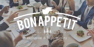 Concetto di Bon Appetite Food Delicious Meal Immagini Stock Libere da Diritti