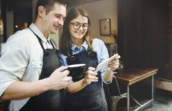 Concetto di Breaking Service Partner di barista fotografia stock libera da diritti