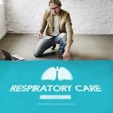 Concetto di bronchite di asma di polmonite della medicina dei polmoni Fotografia Stock Libera da Diritti