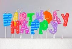 Concetto di buon compleanno Fotografie Stock Libere da Diritti
