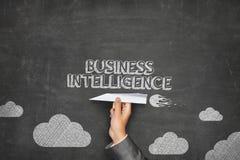 Concetto di business intelligence sulla lavagna con Immagine Stock