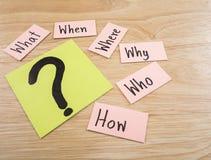 Concetto 13 di Busniess di domande Immagini Stock