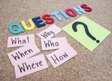 Concetto 6 di Busniess di domande Immagine Stock