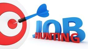 Concetto di caccia di lavoro Fotografia Stock Libera da Diritti