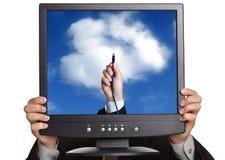 Concetto di calcolo della nube immagini stock libere da diritti